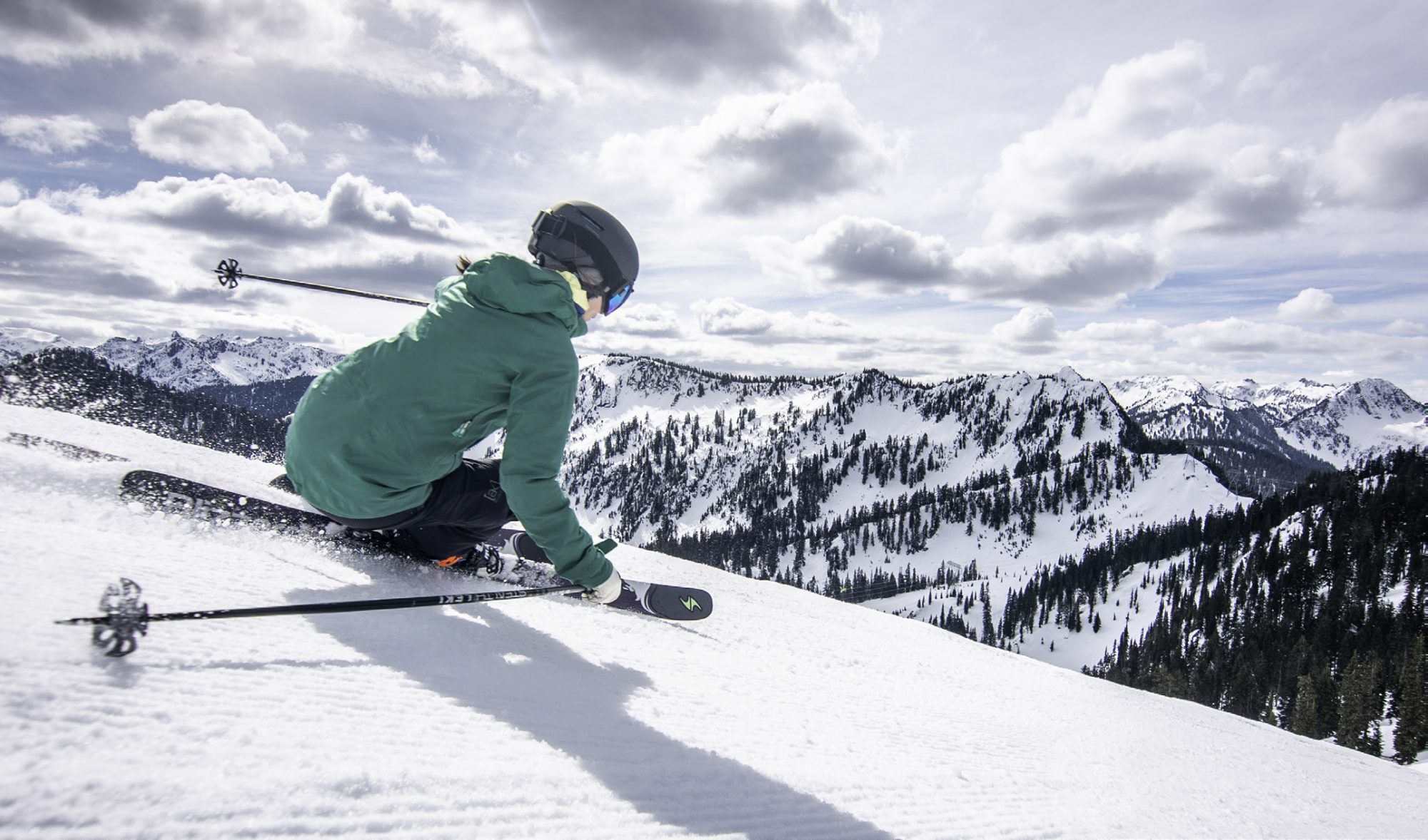 Stunning slopes and scenery at Stevens Pass