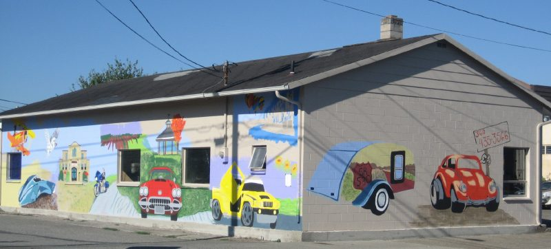 Mural by Harry Engstrom.