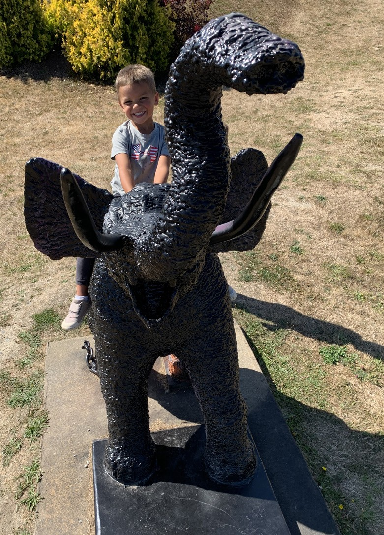 Elly bronze elephant sculpture at Freedom Park in Camano Island