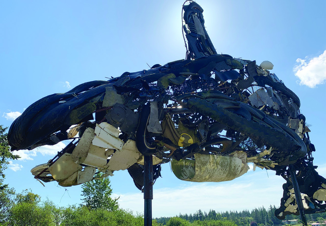 Giant whale by Rick Wesley on Camano Island
