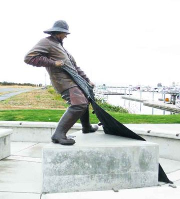 Port of Everett Fisherman's Statue